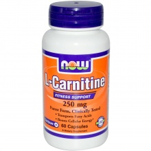 Л-карнитин NOW L-Carnitine 250 mg 60 таб