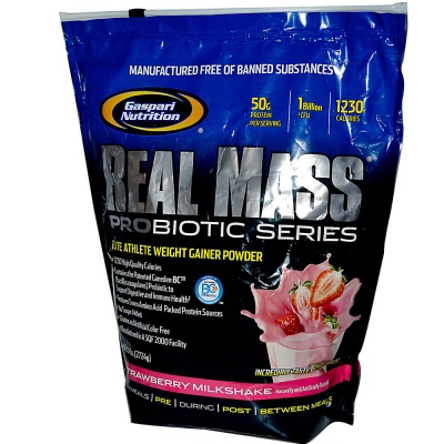 Гейнер Gaspari Nutrition Real Mass Probiotic 2724 гр