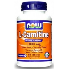 Л-карнитин NOW L-Carnitine 1000 mg 50 tabs