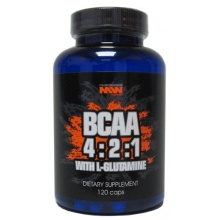 BCAA 4:2:1 With Glutamine Muscle World Nutrition 120 кап