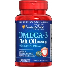 Витамины Puritan's Pride Omega-3 Fish Oil 1000 mg 100кап