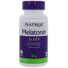 Антиоксидант Natrol Melatonin Time Release 3 mg 100 таб