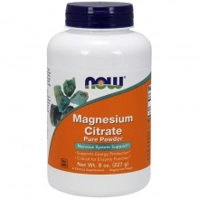 Витамины Now Magnesium Citrate Powder 8 oz 227гр