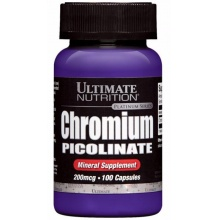 Жиросжигатель Ultimate Nutrition Chromium picolinate  100кап 200мг