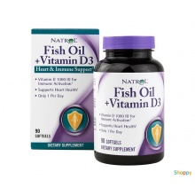 Natrol Fish Oil & Vitamin D3 90 гел. капс.