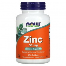 NOW ZINC GLUCONATE 50 МГ 250 ТАБ