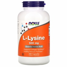 Л-Аргинин Now Foods L-lysine 250 табл