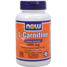 Л-Карнитин NOW L-Carnitine Tartrate 50 таб
