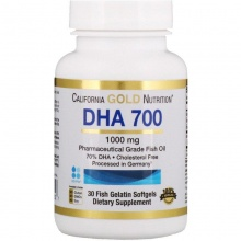 Антиоксидант California Gold Nutrition DHA 700 30 капсул