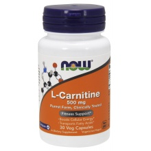 Л-Карнитин NOW L-Carnitine Fitness Support  500 мг 30 капсул