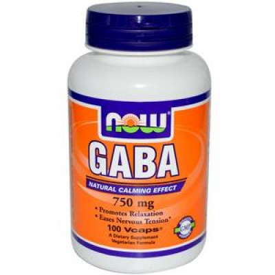 Now GABA 750 mg 100 cap