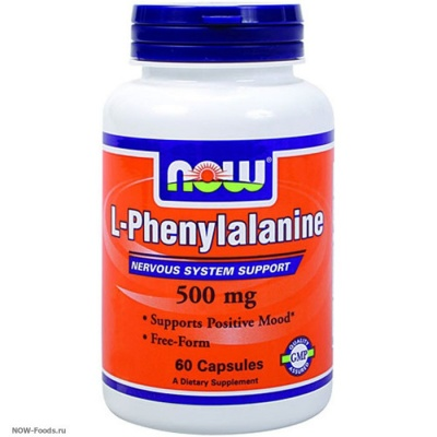 NOW L-Phenylalanine 500 mg 60 caps