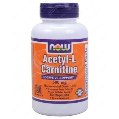 NOW Acetyl L-Carnitine 500 mg 50 cap