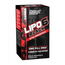 Жиросжигатель NUTREX Lipo 6 Black Ultra Concentrate V2 60cap