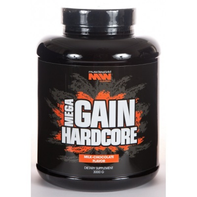 Гейнер Muscle World Nutrition Mega Gain Hardcore 3000 гр