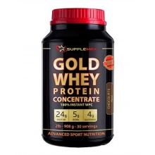 Протеин Supplemax Gold Whey Protein Concentrate 908 гр
