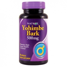 Тестобустер Natrol Yohimbe Bark 500 mg 90 капс