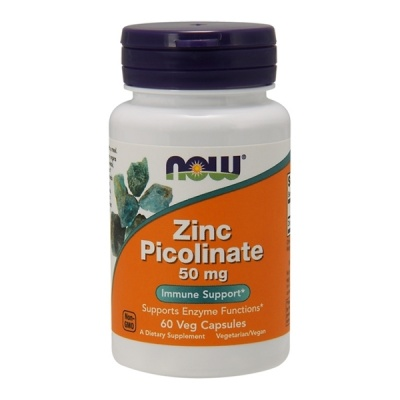 Цинк NOW Zinc Picolinate 50 мг 60 капсул