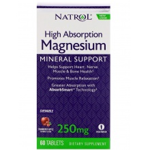 Витамин NATROL Magnesium High Absorption 60 таблеток